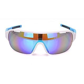 Lafeil Sportbrille Wechselgläser Sportbrille Herren Damen Herren Zwei Linsengruppen Reitbrillen Fahrräder Brillen Outdoor Sportarten Winddicht Blau
