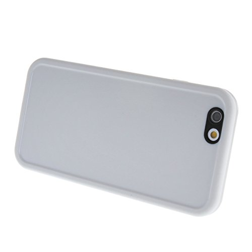 "MOONCASE pour Apple iPhone 6 / 6S (4.7"") Case 2 in 1 Silicone Gel TPU Housse Coque Etui Case Cover Blanc Blanc #0201"