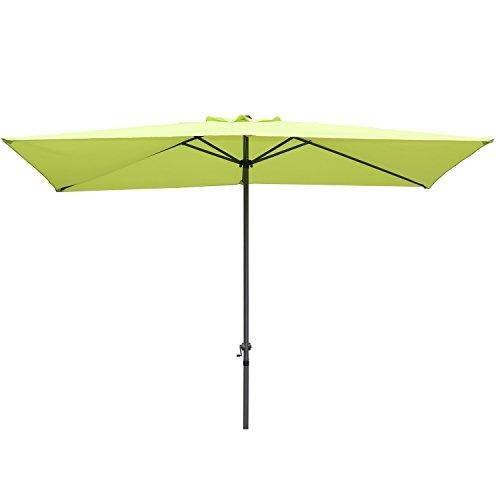 Angel living® 2x3m ombrellone in alluminio e poliestere resistente alla ruggine protezione uv (mela verde)