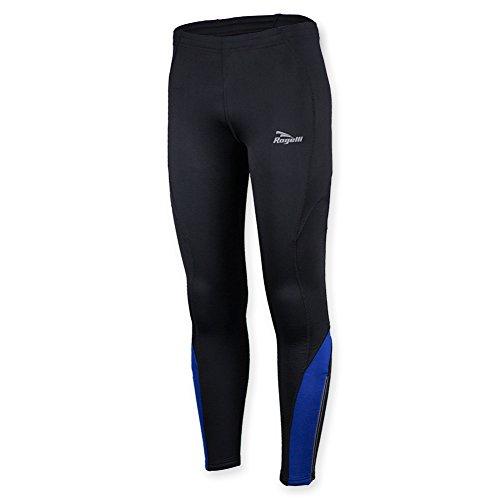 Rogelli Herren Radsport Trägerhose Dunbar Running Long Tights, Herren, Dunbar, Black/Royal Blue