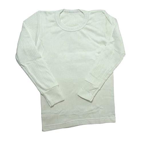 Thermo-Wäsche, langärmliges T-Shirt für Jungen (Hergestellt in Großbritannien) (Brustumfang: 76-81 cm (Alter 12-13)) (weiß)