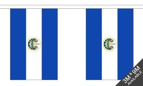 El Salvador National Bandierine 6 metro, 20 bandiere+ 59mm Spilla