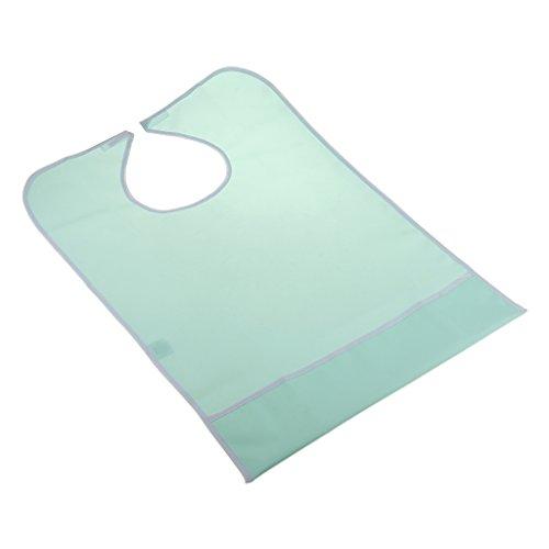 MagiDeal Erwachsene Essschürze / Esslätzchen feuchtigkeitsundurchlässig Kleidungsschutz Altenpflege Erwachsenenlätzchen - Grün