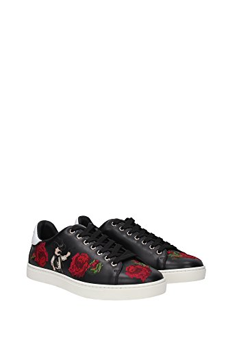 CS1443AB47889690 Dolce&Gabbana Sneakers Homme Cuir Noir Noir