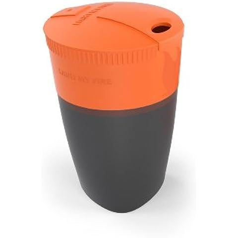Light My Fire, Bicchiere pieghevole Pack Up, per campeggio e otudoor, Arancione (Orange), taglia unica