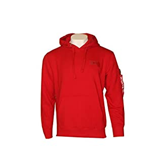 Alpha Industries Basic Back Print Hoody (L, Speed Red)