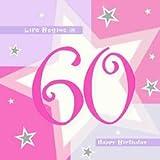Servietten mit dem Alter des Geburttagskindes - 60 Jahre, 16 Stück