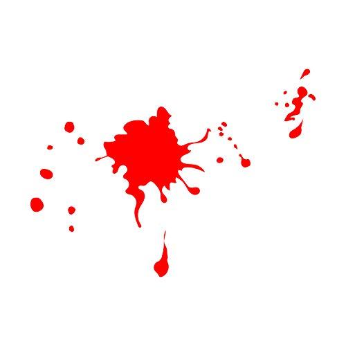- Blutspritzer - von je 2,5 cm bis 58 cm - lustige Gruselige Halloween-Dekoration - Kinder Teenager Erwachsene Innen Außen Wand Fenster Wohnzimmer Büro Decor ()