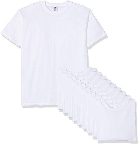 Fruit of the Loom Herren T-Shirt Valueweight, 10er Pack, Weiß (weiß), X-Large