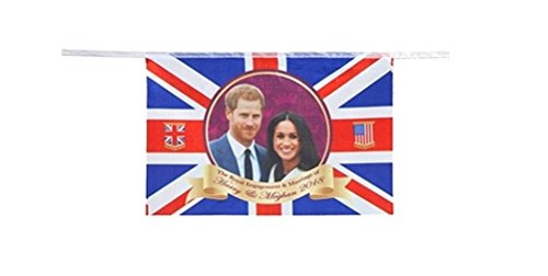 Königliche Hochzeit PVC Bunting 2018 Prinz Harry Meghan Markle Souvenir Partei Dekoration 20 Fuß 8 Fahnen
