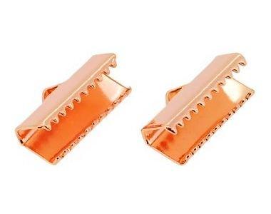 (Accessoire parties / ferrures métalliques) Bouchon de sangle (attache ruban wagoniguchi) / 13 mm or rose 10 pièces