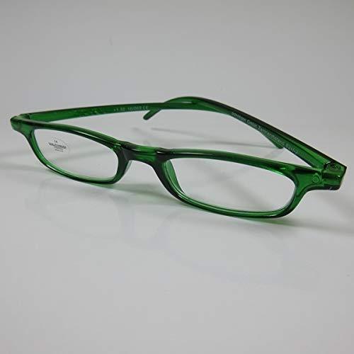 SCHILDGEN Feine Lesebrille grün für Damen & Herren Fertigbrille Lesehilfe +3,0