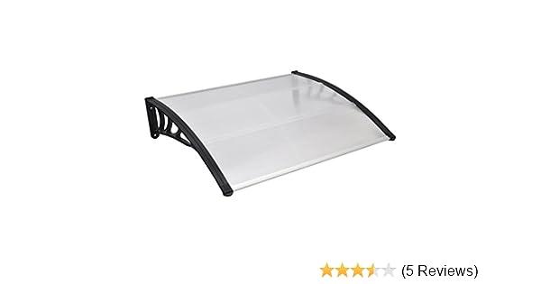 Grau 100x300cm HENGMEI Vordach Haust/ür /Überdachung Haust/ürvordach Pultvordach T/ürdach Regenschutz Aluminium und Transparent Kunststoff