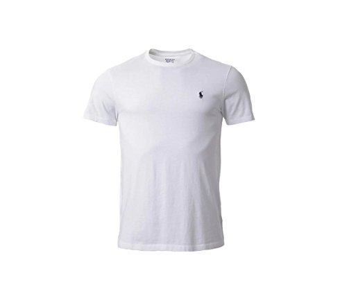 Ralph Lauren RL Polo Herren Modern T-Shirt, Logo Weiß