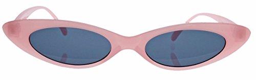Super schmale Cat Eye Sonnenbrille im Stil der 40er 50er Jahre Rockabilly Blogger Fashion CS27 (Candy Rosa)