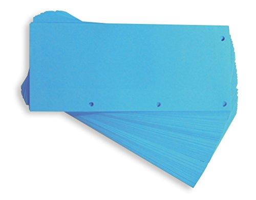 ELBA 400013889 Karton-Trennstreifen DUO 60 Stück Trennlaschen Trennblätter Ordner Register Blauer Engel blau