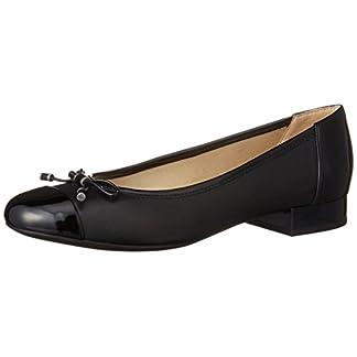 Geox Damen D WISTREY F Geschlossene Ballerinas, Schwarz (BLACKC9999), 40 EU 1