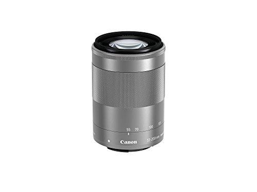 Canon EF-M 55-200mm F/4.5-6.3 IS STM Objektiv (52 mm Filtergewinde) silber