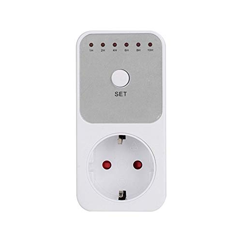 HoganeyVan Counter 2 Mini LED 230V 16A 1h-10h Countdown Timer Switch Socket Outlet Plug-in Time Control for Kitchen Electric Appliance EU Plug -