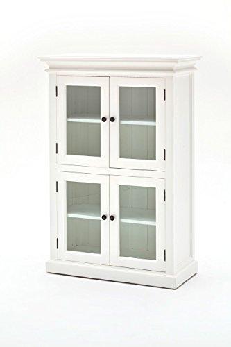 Halifax Landhausmöbel Glastürenschrank Weiß Küchenbuffet Esszimmerschrank Landhaus Buffet Fertig Montiert