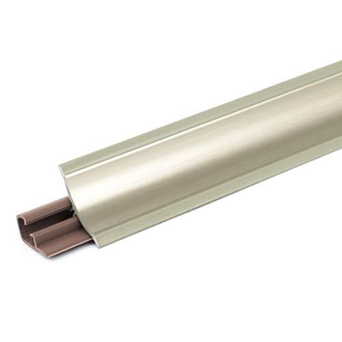 [DQ-PP] 2,5m Winkelleisten Chrom für Küchen 23mm x 23mm Arbeitsplatten Grundprofil Abschlussleiste Küchenabschlussleiste Tischplattenleisten