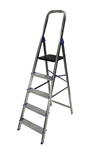 Escalera domestica de aluminio Altipesa Aluminio, 5 PELDAÑOS