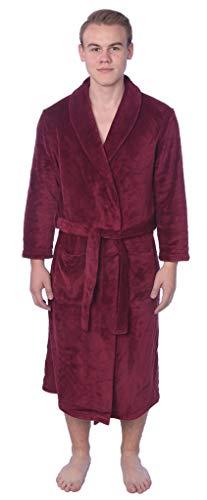 Beverly Rock Herren Bademantel aus weichem Fleece in Übergröße, Lange Größe - Rot - 1X Mehr (Lange Fleece-rock)