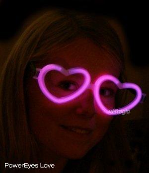 Lot de 10 paires de Lunettes Fluo Coeur Rose - idéal pour vos soirées