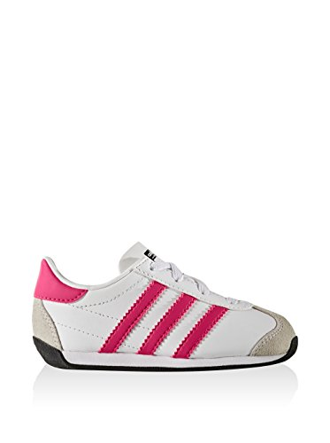 adidas - Country Og El I, Sneaker Unisex – Bambini Bianco/Fucsia