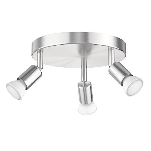 ledscom.de Deckenleuchte LUNARA, dreiflammig inkl. 460lm LED GU10 Lampen, warm-weiß (Fertig Wandleuchte Glühlampe)