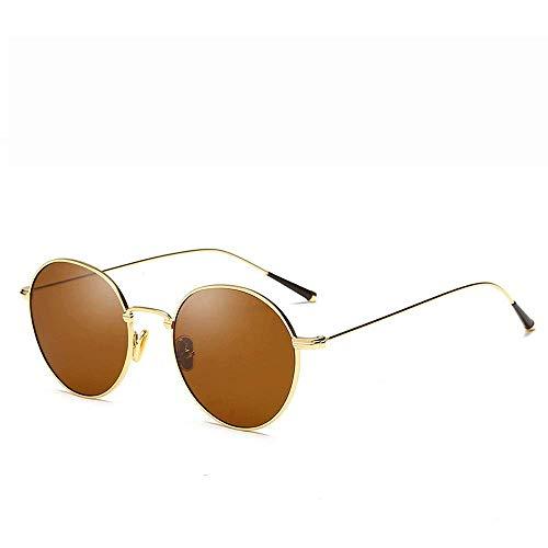 JFFFFWI Ofgcfbvxd-gla Mode Unisex Driving Sonnenbrille Metallrahmen Unisex Aviator Sonnenbrille Gespiegelte polarisierte Linse Für Männer \u0026 Frauen Ultraleicht (Farbe: Beige, Größe: Casual Größe