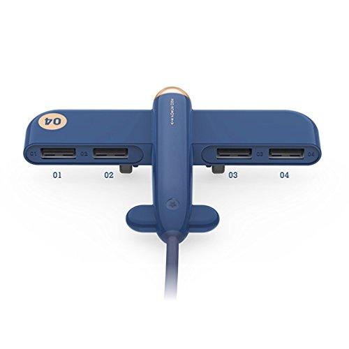 MTTLS USB Hub 4 Port USB 2.0 Portable Adapter Splitter Kabel Für Apple MacBook MacBook Air MacBook Pro Imac Etc,Blue
