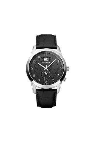RODANIA–World Star Men's Black Dial Chronograph Watch Diameter 43mm