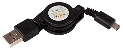 DURAGADGET - Câble de synchronisation rétractable pour enceinte portable Medion P61110 et TicHome Mini
