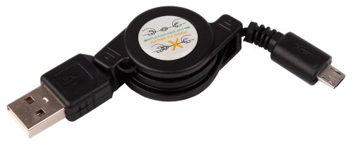 DURAGADGET Cable MicroUSB Retráctil Para Altavoz Portátil Aukey SK-M8 / TaoTronics TT-SK06Es / Tronsmart-T1 / YOZATIA / Anker A3143011 / Esonstyle