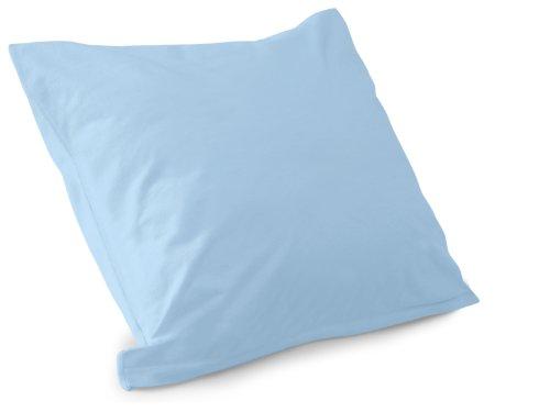 Schlafgut Mako Jersey Spannbetttuch 15001 oder  Kissenbezug 15101 - Baumwolle 406.463, hellblau,...