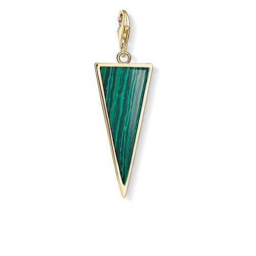 Thomas Sabo Damen-Anhänger grünes Dreieck 925 Sterling Silber Y0023-140-6