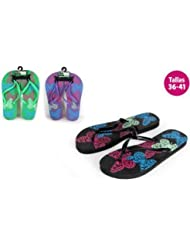 Aquapro Chaussures Plage Motif Papillons Vert