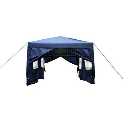 Outsunny 6m x 3m Garten Robuste, wasserdichte Pop-Up-Pavillon Festzelt Party Zelt Hochzeit Vordach (blau) mit gratis Aufbewahrungstasche
