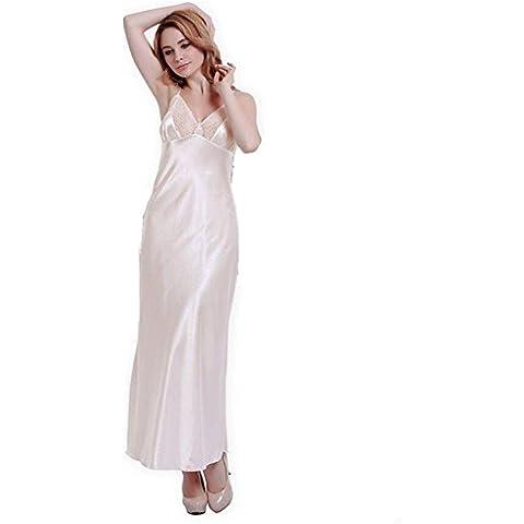 LIUDOULargos vestidos banquete vestido novia encaje elegante fiesta emulación seda albornoz , 2# ,