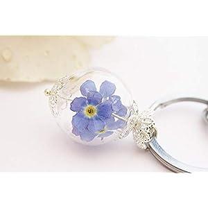Echte Vergissmeinnicht Schlüsselanhänger Taschenanhänger key Chain real flowers Blütenanhänger Blumen Abschiedsgeschenk Abschied Geschenk