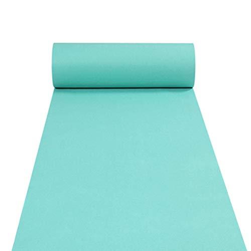 llblaue Teppichläufer Hochzeit Gangläufer Zeremonie Teppichläufer Aktivität Plüsch Teppichrolle kann weit 1,2 m geschnitten Werden,10M ()
