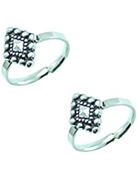 Style A Bit Sterling Silver Toe Ring Set O For Women TOE004
