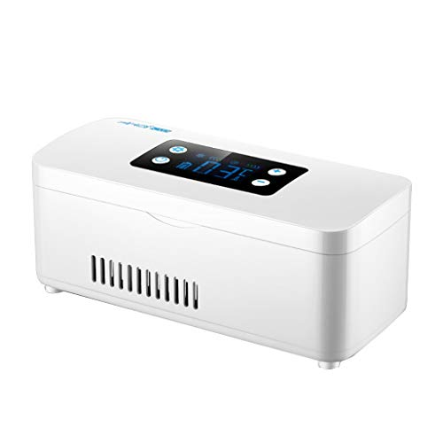 Ice Tragbare Insulin-KüHlbox Auto KüHlschrank Intelligente Mart Mini Tragbare Kleine KüHlbox Innen- Und AußEnbereich Mit Tragetasche