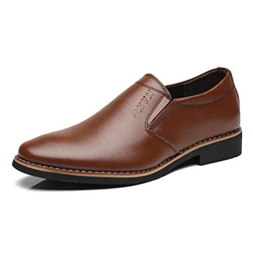 Pisos Zapatos para Hombres Moda Vestido de Cuero Boda Trabajar Zapatos de Negocios Formales Calzado con Punta Estrecha
