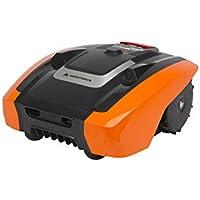 YARD FORCE AMIRO 400i Mähroboter mit App-Steuerung – Selbstfahrender City-Rasenmäher Roboter mit Begrenzungsdraht – Akku Rasenroboter für bis zu 400m² Rasen & 25% Steigung 20 V, schwarz/orange
