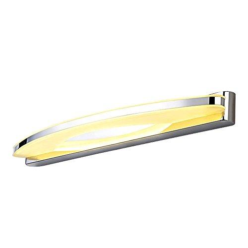lonfenner lámpara baño cuarto de baño espejo de pared Light Espejo (iluminado LED de iluminación, minimalista moderno impermeable y espejo antiniebla (60cm)