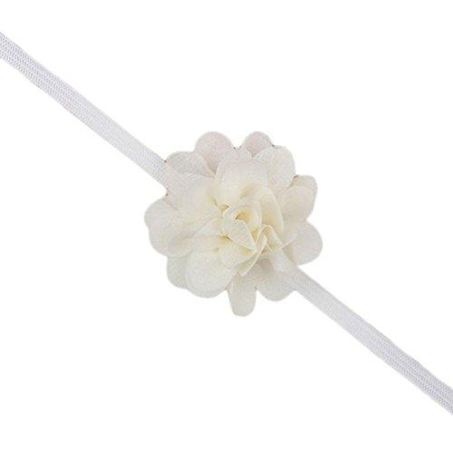 Stirnbänder Transer® Baby Unisex Stirnband Strass Blume Babyschmuck Babygeschenke & Taufe Größe: 35cm (Beige)