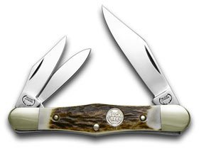 Buck Creek German Whittler Deer Stag Handles Pocket Knife Knives -