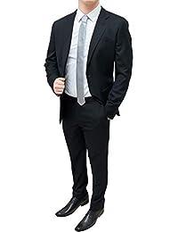 FB CLASS Abito Completo Uomo Sartoriale Nero Slim Fit Elegante Blazer  Giacca con Pantaloni e78f35b2cb9